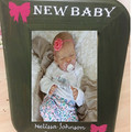 Personalised Picture Frame New Baby Arrival Wood 6.5″ x 8.3″ Christening Gift