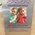"""Personalised Picture Frame """"We Love you nanny"""" 5.5″ x 7″"""