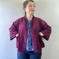 Corduroy kimono style jacket with bracelet length sleeves