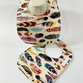 Baby Bib  Gift Pack | Feathers