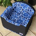 Tail Rider Dog Booster Seat - Small 'Floral Navy'