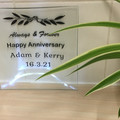 Personalised Glass Plate For Anniversaries, Weddings, Engagements