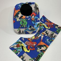 Baby Bib & Burp Cloth Gift Set | Comic | Justice League | Super Hero