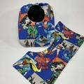 Baby Bib & Burp Cloth Gift Set   Comic   Justice League   Super Hero