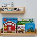 Wide/Deep wooden floating bookshelves, wall book shelf, wood nursery bookshelf,