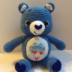 Bear, Teddy, crochet, toy, softie, baby, nursery, baby shower, decor, Amigurumi
