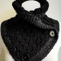 Original design Black with edging of grey white flecks.