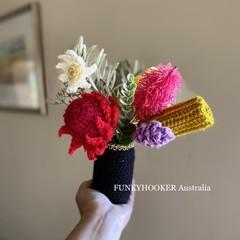 Crochet Flowers Bunch In Jar