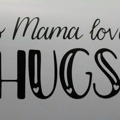 This Mama (Mum, Mummy) loves.... personalised car window decals