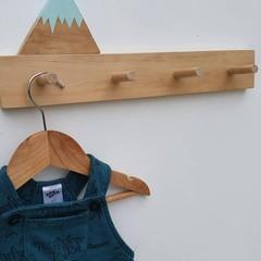 Wooden nursery peg rail, wood coat rack, wall peg rail, Kids peg rail, nursery r