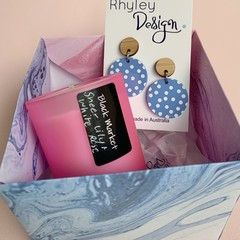 Candle and Earring Box Set
