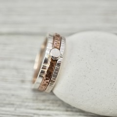 Silver and copper stacking rings | Sterling silver and pure copper stackers