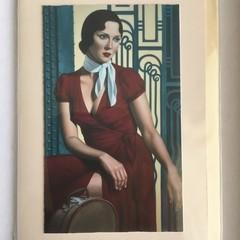 Vintage retro style blank card