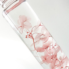 HANDMADE FLORAL DECOR, TABLE CENTERPIECE - THE HYDRANGEA S BOTANICAL BOTTLE