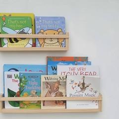 Bookshelves - wood Nursery Shelf - Floating Bookshelf, wall mount timber shelf,