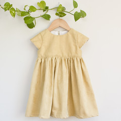 Eco Mustard Floral Toddler Dress Size 3