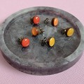 Resin Trinket Dish and Earring Set