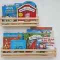 Wide/Deep Kids bookshelf, Kids bookcase, Wooden Nursery Shelf, Floating bookshel