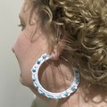Gorgeous handmade boho hippy crochet and beaded hoop earrings