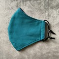 Cotton Face Mask - PLAIN - Teal