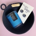Navy Rope Bowl, Candle and Earring Set