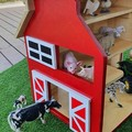 READY TO POST - Toy wooden barn
