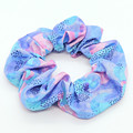 Earring and scrunchie set - blues & pink