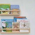 Bookshelves - wood Nursery Shelf - Floating Bookshelf, wall mount timber shelf,