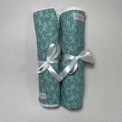 Burp Cloth Duo Gift Set | Green Cactus