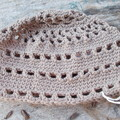 crocheted cloche made from pure wool
