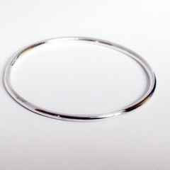 Solid 3mm fully round Sterling Silver bangle