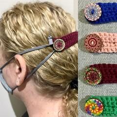 Adults Women's / Men's Crochet Boho Face Mask Ear Saver Extender