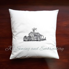 Old Cottage Calico Cushion Cover