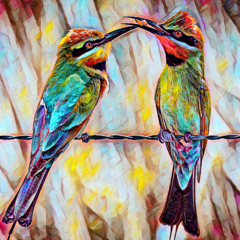 A Bee-eater's Breakfast. Fine Art Print (Limited Edition)