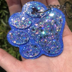 Paw print  ~ key tag /. Keychain / bag charm ~ resin