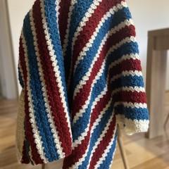 Round crochet blanket