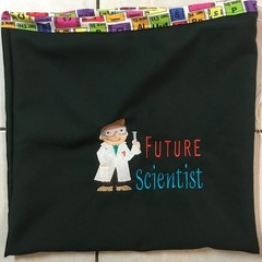 Future Scientist re-useable gift bag, sports, library, gift bag + BONUS
