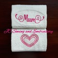 Mum Handtowel Duo Set Pink - Perfect gift for Mothers Day