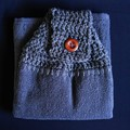 Set of 2 Cotton tea towels double thickness crochet top - free shipping