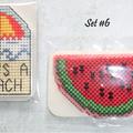 Cross Stitch Fridge Magnets (Sets of 2)