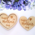 Gorgeous  heart shaped Mothers Day Trinket Tray with Matching Coaster