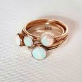 Handmade 14k Gold Filled and Opal ring