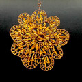 Topaz Glass beaded Sun catcher