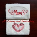 Mum Handtowel Duo Set Red - Perfect gift for Mothers Day
