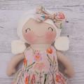"Handmade rag doll, 40cm (16""), dress up doll, cloth doll."