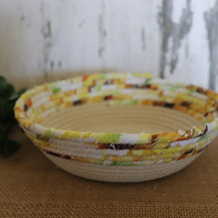 Rope Bowl- 1/2 Sunflowers
