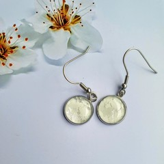 Classic White Silver Earrings or Necklace