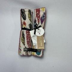 Burp Cloth Gift Set | Feathers