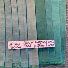 Hand dyed cotton pieces of fabric  - prewashed & preshrunk