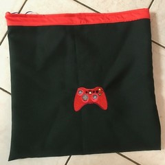 Boy or girl Gamer re-useable draw string gift bag, sports, library or shop bag